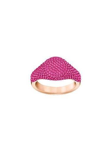 Swarovski Stone:Rıng Sıgnet Fuch/Ros 58 Renkli